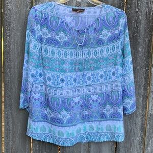 🌸3 For $10🌸 Crosby. Paisley Rayon Blouse